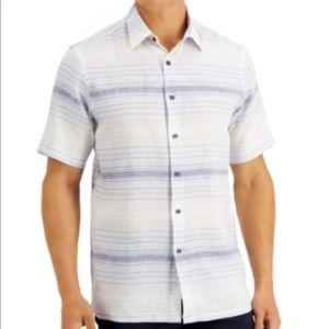 Tasso Elba Men's Capri Striped Shirt